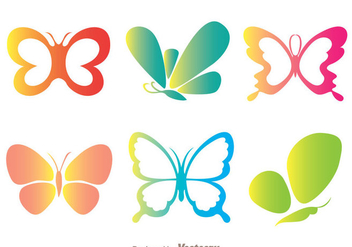 Color Butterflies Icons - Kostenloses vector #272743