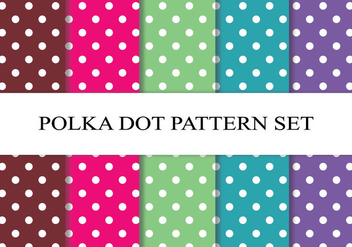 Colorful Polka Dot Pattern Set - vector #272763 gratis