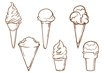 Snow Cone Illustrations - vector gratuit #272803