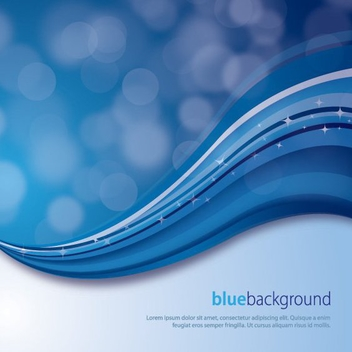 Blue Waves Magic Background - Free vector #272903