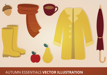 Autumn Essentials Vector Set - Kostenloses vector #273243