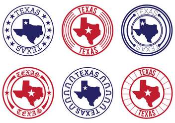 Texas Map Badge Vectors - бесплатный vector #273353