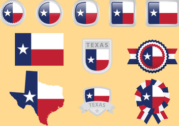 Texas Flag Vectors - vector gratuit #273363