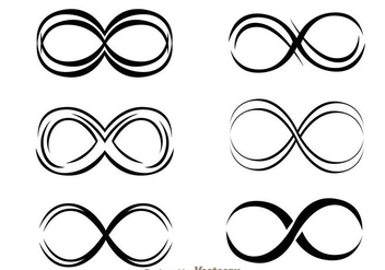 Infinity Black icons - Free vector #273383