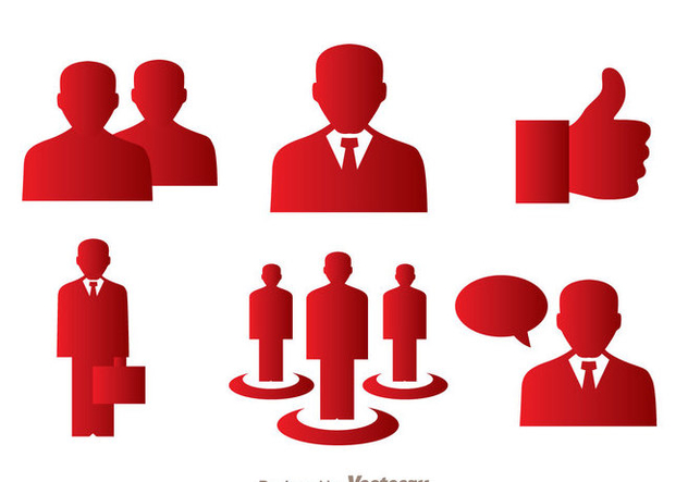 Man Red Icons - vector gratuit #273393