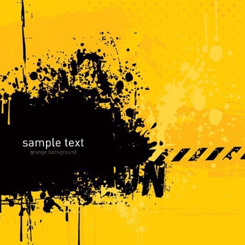 Black Torn Yellow Caution Background - vector gratuit #273443