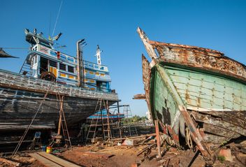 Old Shipping boats - Free image #273553