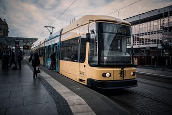 Tram in street of Dresden - бесплатный image #273783