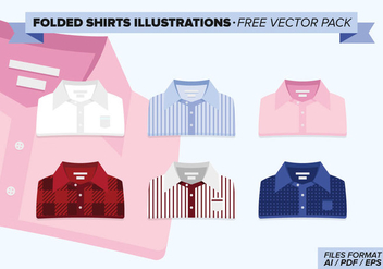 Folded Shirts Illustrations Free Vector Pack - бесплатный vector #273953