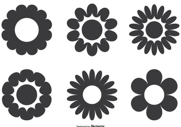 Simple Flower Shape Set - vector gratuit #273963