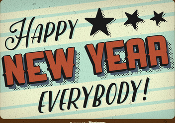 Happy New year background - vector gratuit #273993