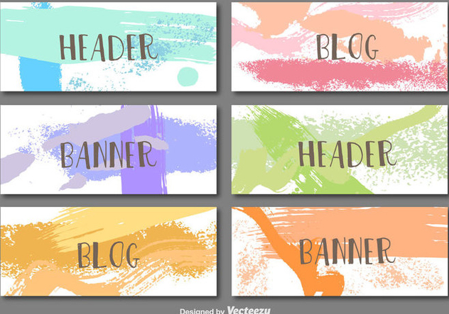 Hand painted banners - vector gratuit #274003