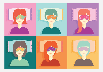 Beauty Sleep Mask Vector - бесплатный vector #274083