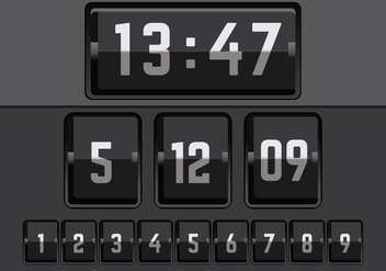 Number Counter Vector - vector gratuit #274093