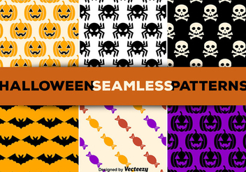 Halloween seamless patterns - Free vector #274133