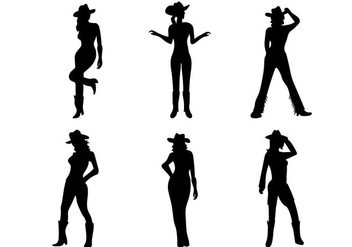 Cow Girl Vector - Free vector #274143