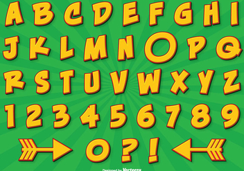 Comic Style Alphabet Set - vector #274183 gratis