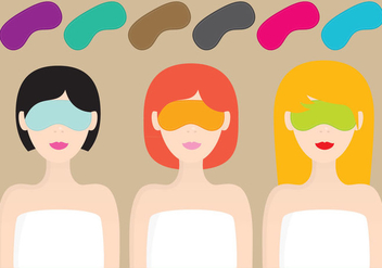 Women With Sleep Masks - vector gratuit #274233