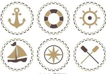 Nautical Icons - vector #274273 gratis