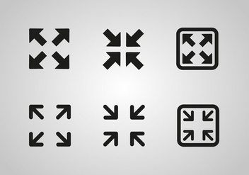 Free Full Screen Icon Vector - vector #274293 gratis