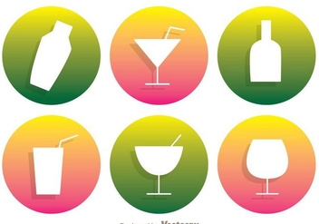 Cocktail Vector Icons - vector gratuit #274323