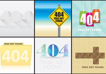 404 Web Screens - vector #274393 gratis