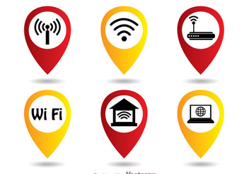 Wifi Symbol Set - Free vector #274413