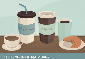 Coffee Vector Illustrations - бесплатный vector #274423