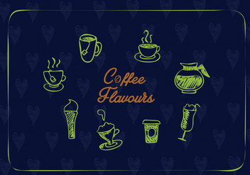 Creative coffee icons vector - vector #274433 gratis