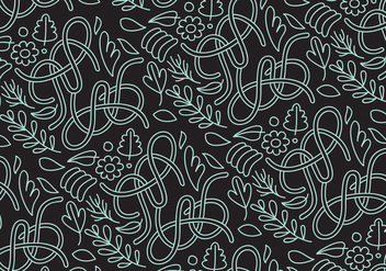 Abstract nature outline pattern - vector gratuit #274443