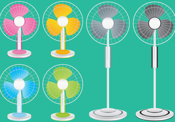 Colorful Ventilator Vectors - бесплатный vector #274463