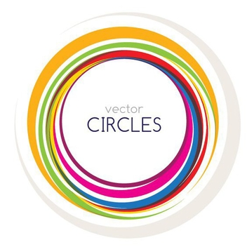 Colorful Circles Message Background - Free vector #274523