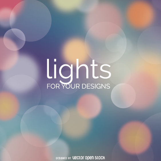 Abstact background Bokeh lights soft colors - Free vector #274543