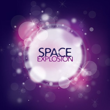 Space Explosion Colorful Background - vector gratuit #274553
