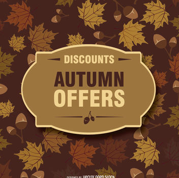 Autumn background and badge - Free vector #274563