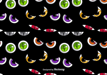 Scary colorful eyes - vector gratuit #274593