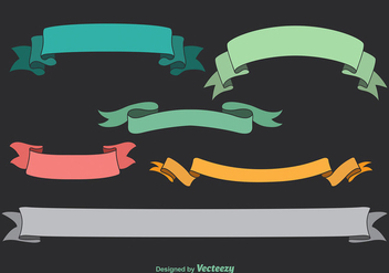 Cartoon ribbons - Free vector #274603