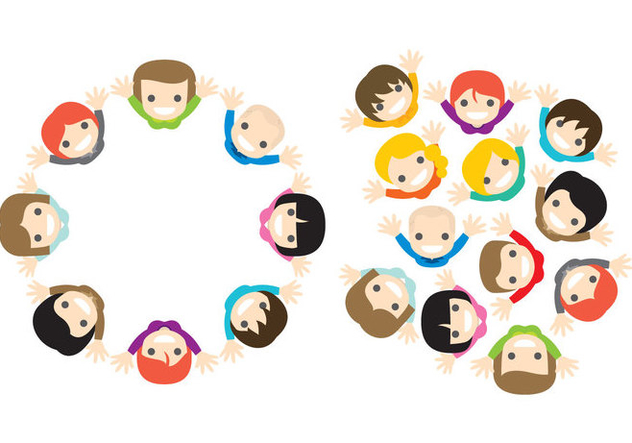 Vector People From Above - Free vector #274623