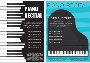 Piano Recital Flyers - бесплатный vector #274633