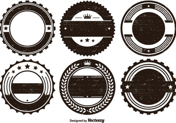Distressed Badge Shape set - vector gratuit #274643