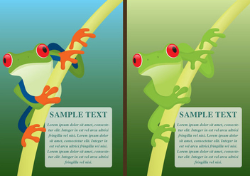 Green Frogs Flyers - vector gratuit #274663