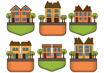 Townhomes Vectors - бесплатный vector #274713