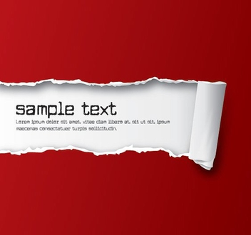 Red Ripped Paper Background - vector gratuit #274823