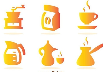 Coffee Gradient Icons - vector gratuit #275123
