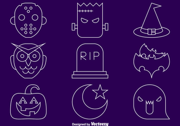 Halloween line icons - Free vector #275133