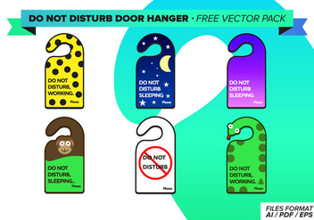 Do Not Disturb Door Hanger Free Vector Pack - Kostenloses vector #275213