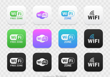 Free WiFi Logo Vector Set - бесплатный vector #275253
