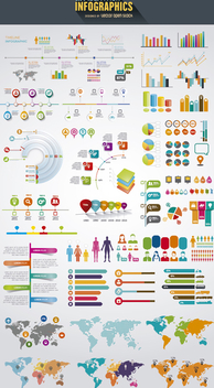 Infographics elements mega pack - vector gratuit #275303