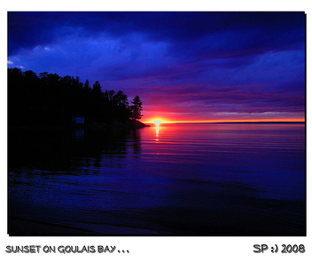 sunset on goulais bay... - image gratuit #279063