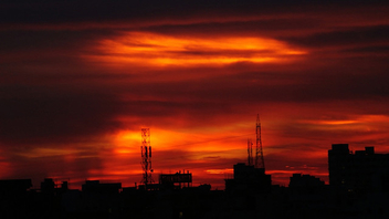 fiery evening sky - Free image #280133